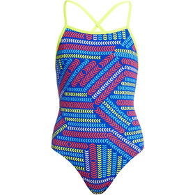 Funkita Strapped In One Piece Traje de Baño Niñas, chain reaction
